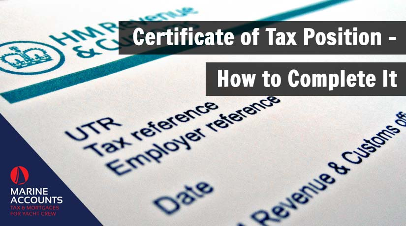 Certificate of Tax Position - How to Complete It
