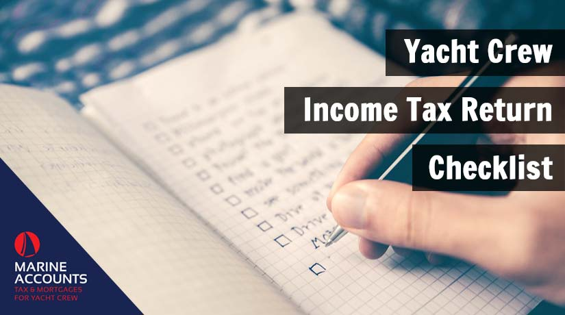 Yacht Crew Income Tax Return Checklist
