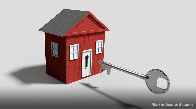 Key Unlocking House