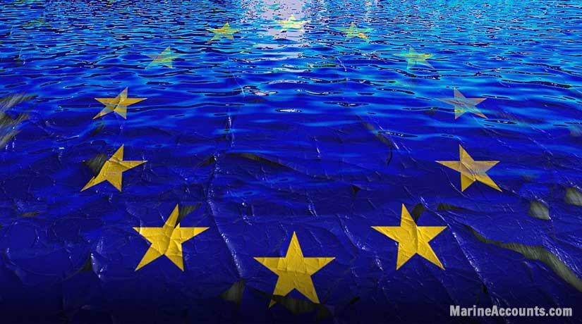 EU Flag in Waters