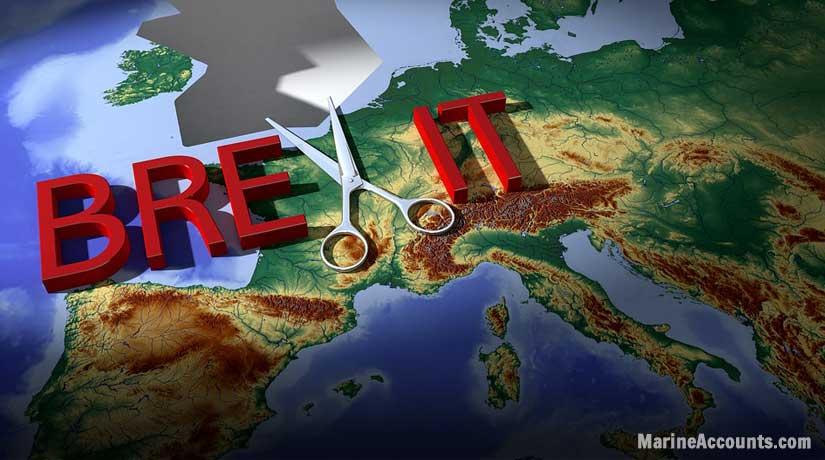 UK Cut from EU Map
